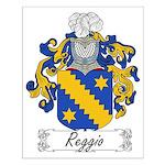 Reggio Family Crest Small Poster