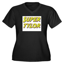 Super tylor Women's Plus Size V-Neck Dark T-Shirt