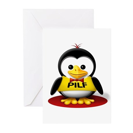Pop The Party Penguin Greeting Cards (Pk of 10