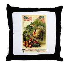Patriotic Thanksgiving Throw Pillow