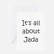Cute Jada Greeting Card