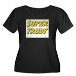 Super trudy Women's Plus Size Scoop Neck Dark T-Sh