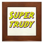 Super trudy Framed Tile
