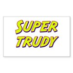 Super trudy Rectangle Sticker