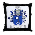 Ricardi Family Crest Throw Pillow