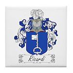 Ricardi Family Crest Tile Coaster