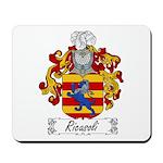 Ricasoli Family Crest Mousepad