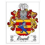 Ricasoli Family Crest Small Poster