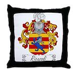 Ricasoli Family Crest Throw Pillow
