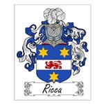 Ricca Family Crest Small Poster