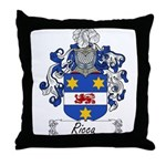 Ricca Family Crest Throw Pillow