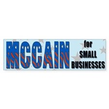 McCain for Small Businesses Bumper Bumper Sticker