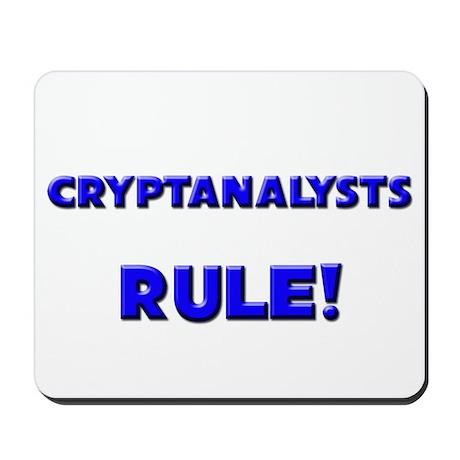 Cryptanalysts Rule! Mousepad