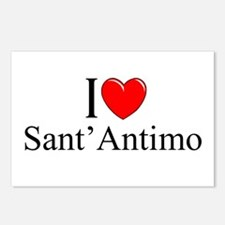 """I Love (Heart) Sant'Antimo"" Postcards (Package of"