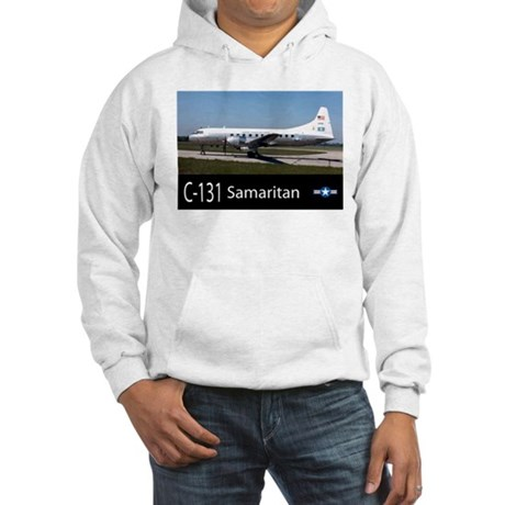 C-131 Samaritan Aircraft Hooded Sweatshirt