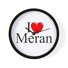 """I Love (Heart) Meran"" Wall Clock"