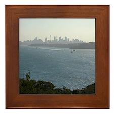 Sydney Harbour City Skyline Framed Tile