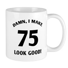 Sexy 75th Birthday Gift Small Mugs