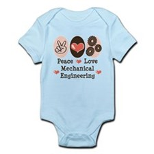 Peace Love Mechanical Engineering Infant Bodysuit