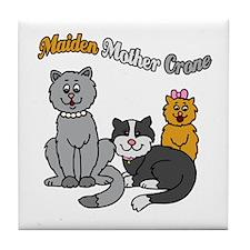 Three Kitty Cats Tile Coaster