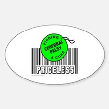 CEREBRAL PALSY FINDING A CURE Oval Decal
