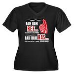 Rah Rah Ree Women's Plus Size V-Neck Dark T-Shirt