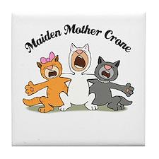 Three Kitty Cats Singing Tile Coaster