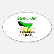CEREBRAL PALSY AWARENESS Oval Decal