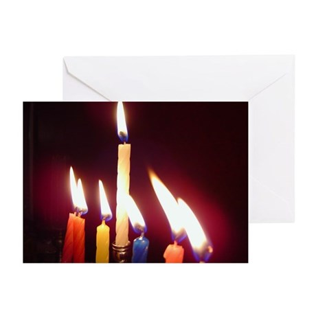 """Hanukkah Candles"" Greeting Cards BLANK (10p)"