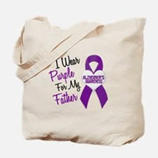 I Wear Purple For My Father 18 (AD) Tote Bag