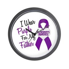 I Wear Purple For My Father 18 (AD) Wall Clock