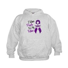 I Wear Purple For My Father 18 (AD) Hoodie
