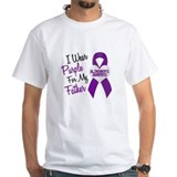Epilepsy i wear purple for Mens White T-shirts