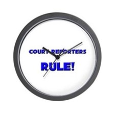 Court Reporters Rule! Wall Clock