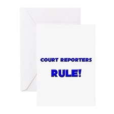 Court Reporters Rule! Greeting Cards (Pk of 10)