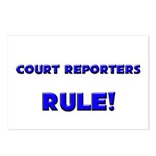 Court Reporters Rule! Postcards (Package of 8)