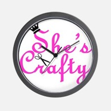 She's Crafty Wall Clock