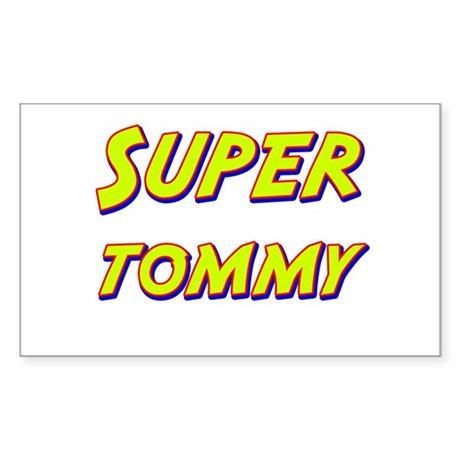 Super tommy Rectangle Sticker
