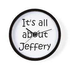 Funny Jeffery Wall Clock