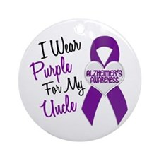 I Wear Purple For My Uncle 18 (AD) Ornament (Round