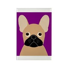 Frenchy (Masked Fawn) Rectangle Magnet