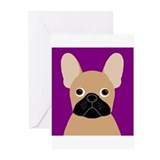 French bulldog Greeting Cards