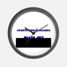 Countryside Managers Rule! Wall Clock