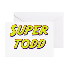 Super todd Greeting Cards (Pk of 20)