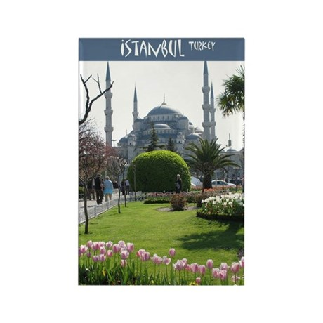 Blue Mosque Rectangle Magnet