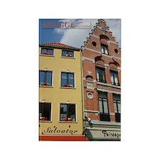 Brugge Buildings Rectangle Magnet