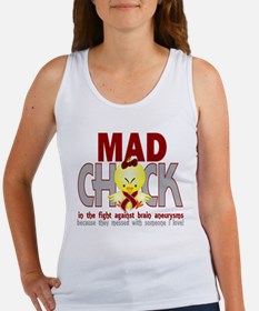 -Brain Aneurysm Mad Chick 1D Tank Top