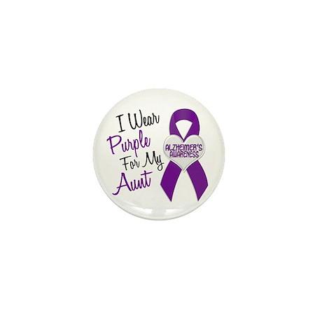 I Wear Purple For My Aunt 18 (AD) Mini Button