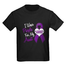 I Wear Purple For My Aunt 18 (AD) T