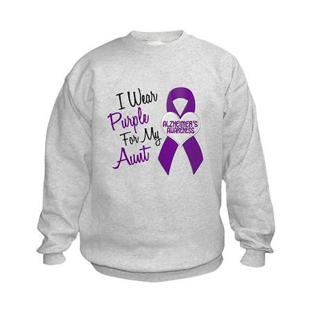 I Wear Purple For My Aunt 18 (AD) Kids Sweatshirt
